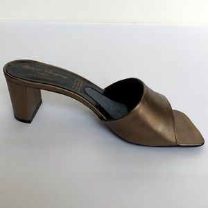 Robert Clergerie Shoes - ROBERT CLERGERIE Bronze Leather Mules